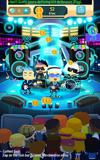 Screenshots von Beat bop: Pop star clicker für Android-Tablet, Smartphone.
