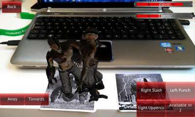 Screenshots of the Beer Mat Fighting AR for Android tablet, phone.