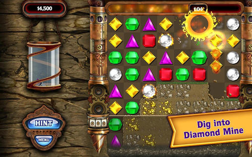 Screenshots do Bejeweled - Perigoso para tablet e celular Android.