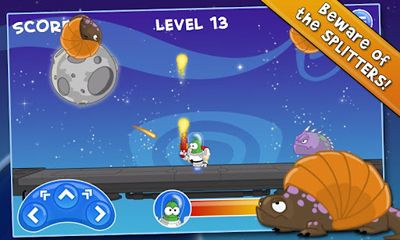 Screenshots of the Bert In Space for Android tablet, phone.