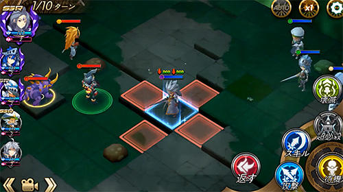 Screenshots of the Blazing sword: SRPG tactics for Android tablet, phone.