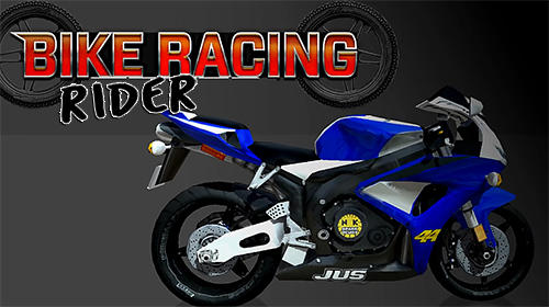 Bike racing rider poster