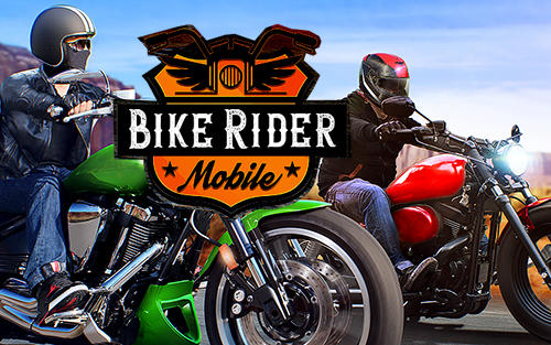 Bike rider mobile: Moto race and highway traffic poster