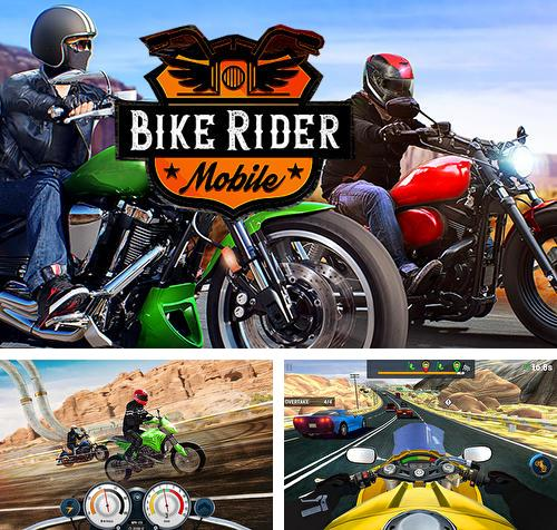 Bike rider mobile: Moto race and highway traffic