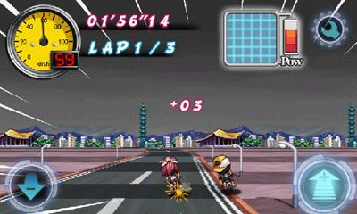 Screenshots of the Bike Striker for Android tablet, phone.
