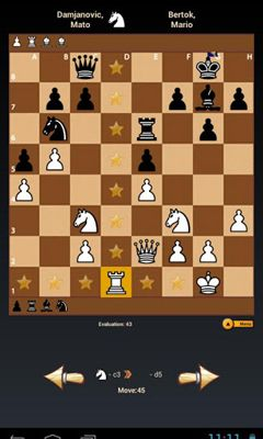 Screenshots von Black Knight Chess für Android-Tablet, Smartphone.