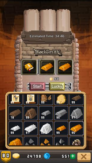 Screenshots von Blacksmith story HD für Android-Tablet, Smartphone.