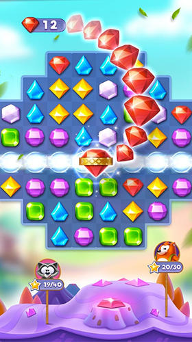 Capturas de pantalla de Bling crush: Match 3 puzzle game para tabletas y teléfonos Android.