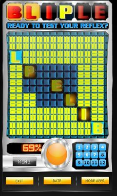 Screenshots of the BLIPLE - Test Your Reflex! for Android tablet, phone.