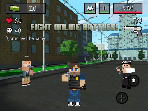 Kostenloses Android-Game Block City Wars: Mein Mini-Shooter. Vollversion der Android-apk-App Hirschjäger: Die Block City wars: Mine mini shooter für Tablets und Telefone.