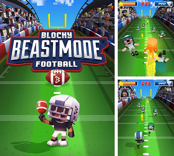 Blocky beast mode football
