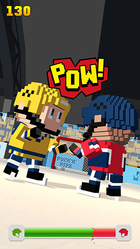 Kostenloses Android-Game Blocky Hockey: Eisläufer. Vollversion der Android-apk-App Hirschjäger: Die Blocky hockey: Ice runner für Tablets und Telefone.