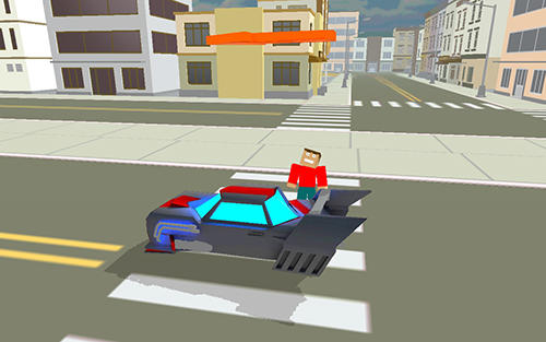 Blocky hover car: City heroes скриншот 2