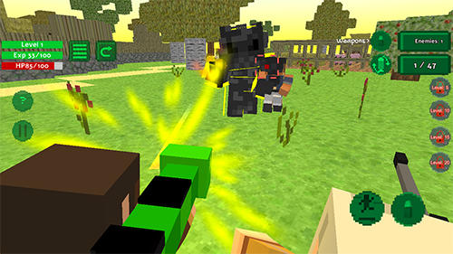 Screenshots von Blocky island rampage für Android-Tablet, Smartphone.