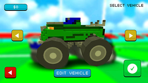 Kostenloses Android-Game Blocky Monster Truck Smash. Vollversion der Android-apk-App Hirschjäger: Die Blocky monster truck smash für Tablets und Telefone.