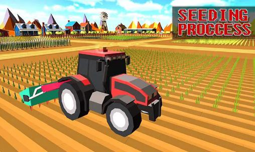 Blocky plow farming harvester 2 screenshot 2