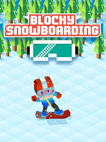 Blocky snowboarding poster