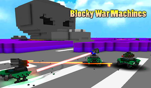 Blocky war machines poster