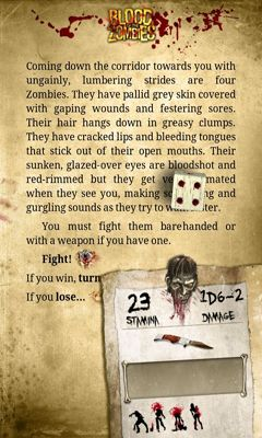 Screenshots of the Blood of the Zombies for Android tablet, phone.