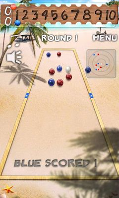 Screenshots of the Bocce Ball for Android tablet, phone.