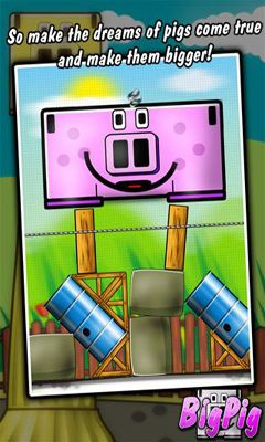 Screenshots of the Big Pig for Android tablet, phone.