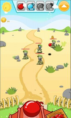 Bombs vs Zombies. Bomb Toss screenshot 1