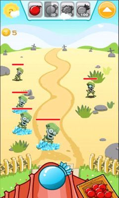 Bombs vs Zombies. Bomb Toss screenshot 2