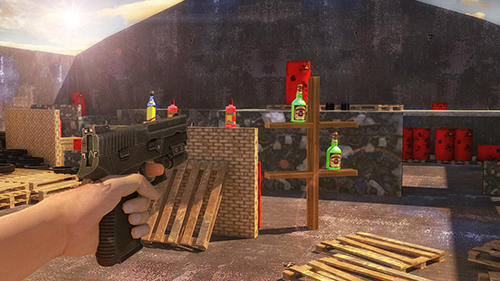 Juega a Bottle shoot 3D game expert para Android. Descarga gratuita del juego Disparo a la botellas 3D: Experto.