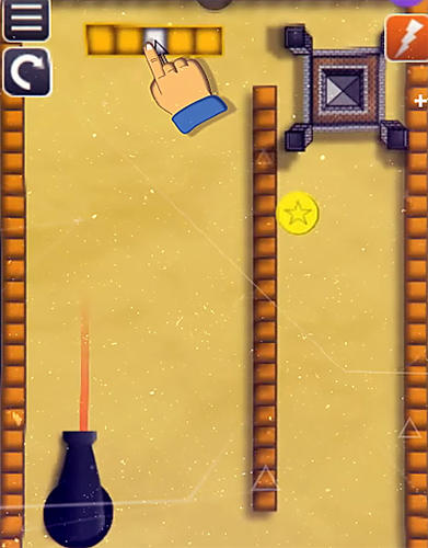 Bounce n bang physics puzzle challenge: Fireball! screenshot 1