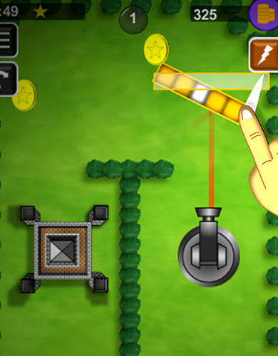 Bounce n bang physics puzzle challenge: Fireball! screenshot 2