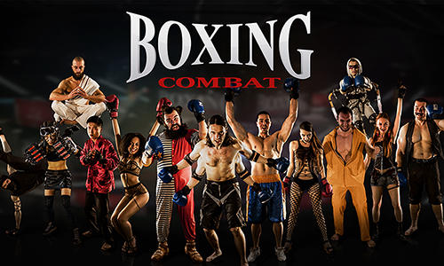 Boxing combat poster
