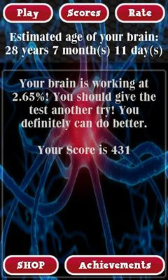 Brain Age Test screenshot 2