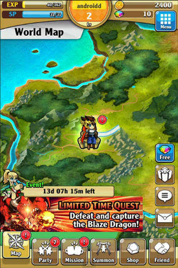 Brave striker: Fun RPG game screenshot 1