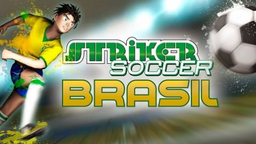Brazil Germany world cup. Striker soccer: Brasil poster