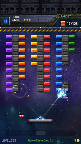 Screenshots von Brick breaker star: Space king für Android-Tablet, Smartphone.