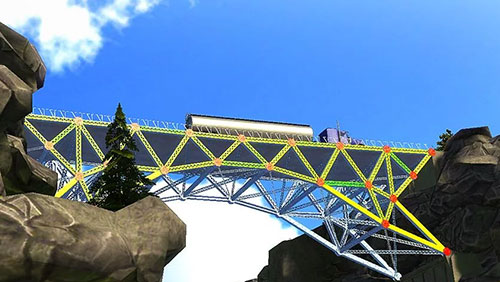 Bridge construction simulator скриншот 2