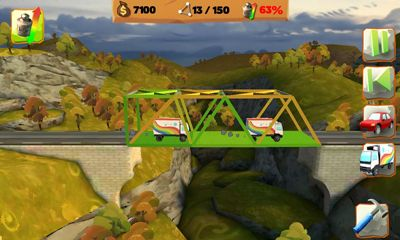 Скріншот гри Bridge Constructor Playground на Андроїд планшет і телефон.