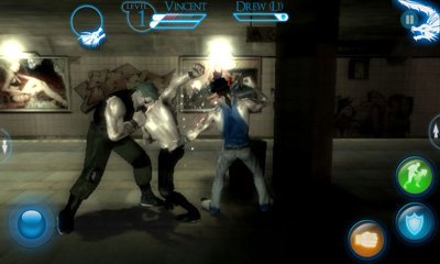 Screenshots of the Brotherhood of Violence for Android tablet, phone.