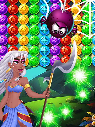 Kostenloses Android-Game Brutal Tribe Bubble Shooter 2. Vollversion der Android-apk-App Hirschjäger: Die Brutal tribe bubble shooter 2 für Tablets und Telefone.