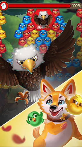 Kostenloses Android-Game Bubble Vögel 5: Farbvogel Shooter. Vollversion der Android-apk-App Hirschjäger: Die Bubble birds 5: Color birds shooter für Tablets und Telefone.