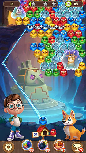 Bubble birds 5: Color birds shooter für Android spielen. Spiel Bubble Vögel 5: Farbvogel Shooter kostenloser Download.
