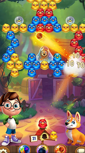 Screenshots von Bubble birds 5: Color birds shooter für Android-Tablet, Smartphone.