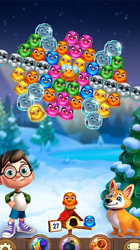 Ігровий процес Bubble birds 5: Color birds shooter на телефоні.