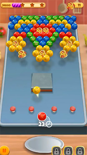 Screenshots of the Bubble chef for Android tablet, phone.