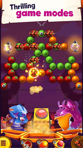 Screenshots von Jungle monkey bubble shooter für Android-Tablet, Smartphone.