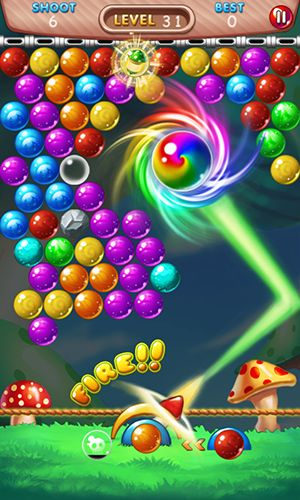 Kostenloses Android-Game Halloween-Stadt: Bubble Shooter. Vollversion der Android-apk-App Hirschjäger: Die Halloween town: Bubble shooter für Tablets und Telefone.