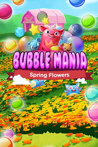 Bubble mania: Spring flowers poster