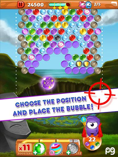 Get full version of Android apk app Bubble pop: Guriko for tablet and phone.