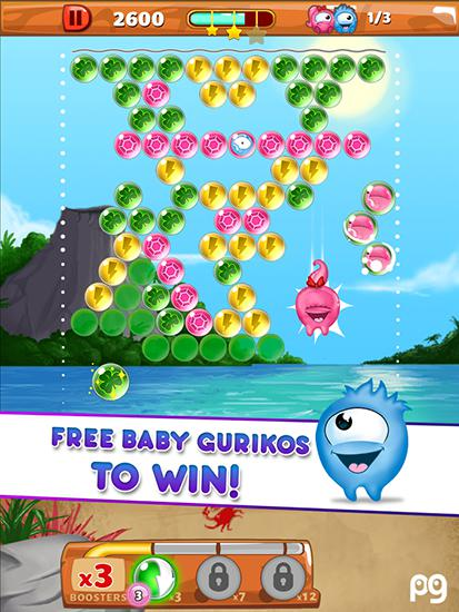 Screenshots of the Bubble pop: Guriko for Android tablet, phone.