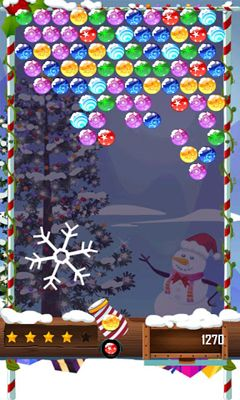 Bubble Shooter Christmas HD screenshot 1